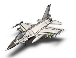 مدل آماده هواپیما جنگنده F16